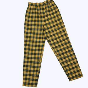 Vintage 80's Ultra High Waist Tartan Plaid Pants